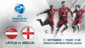 Eiropas čempionāta kvalifikācijas spēle futbolā U-21 Latvija – Anglija