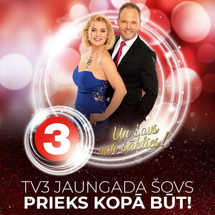 """TV3 Jaungada šovs """"Prieks kopā būt!"""""""