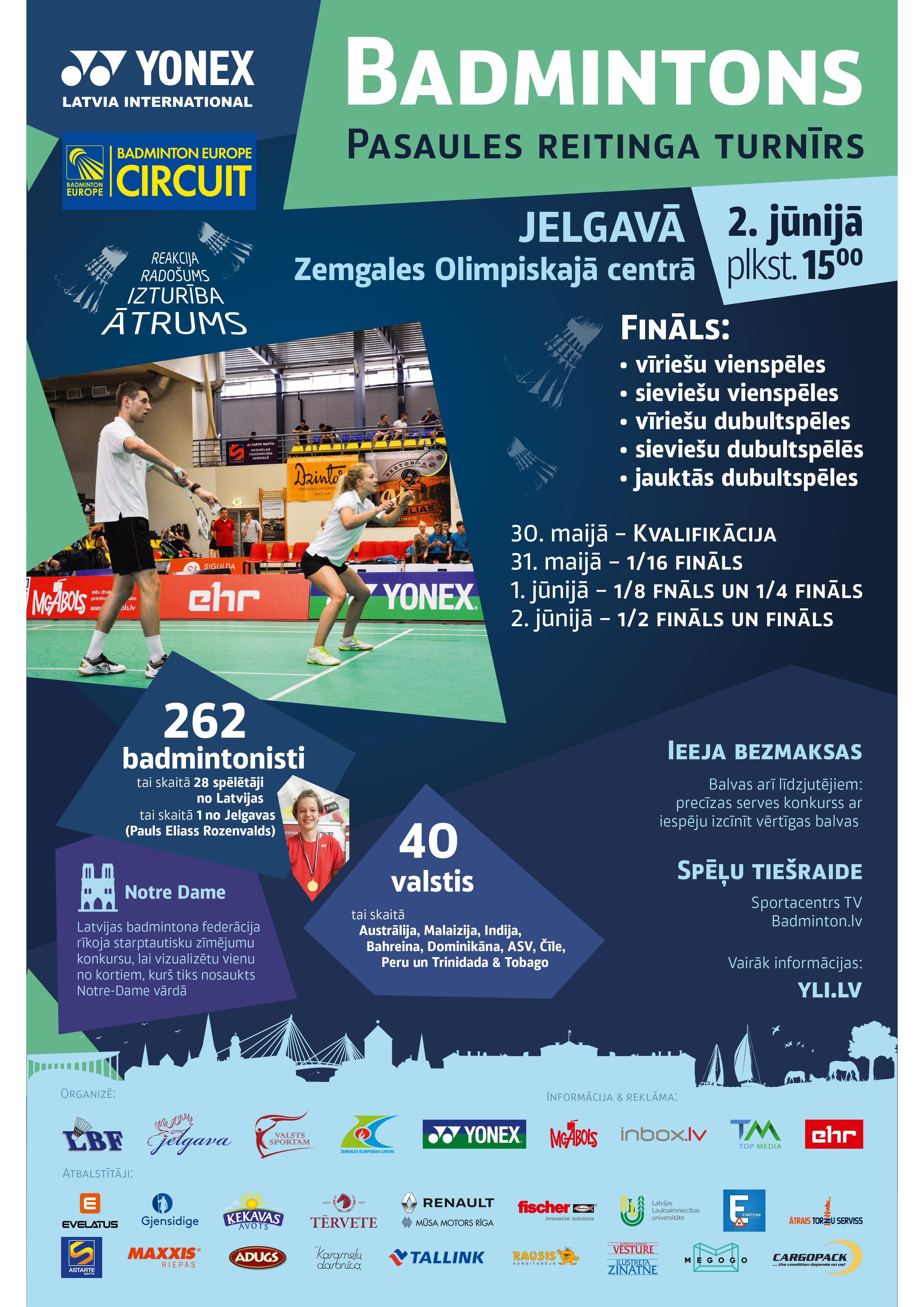 Pasaules reitinga badmintona turnīrs Yonex Latvia International